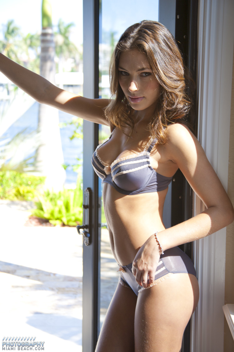 Victorias Secret Angels During a Lingerie Photo Shoot In